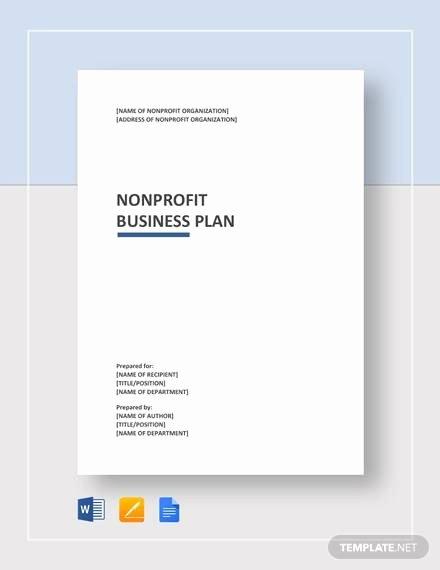 Free Nonprofit Business Plan Template Unique Free 13 Non Profit Business Plan Samples In Google Docs