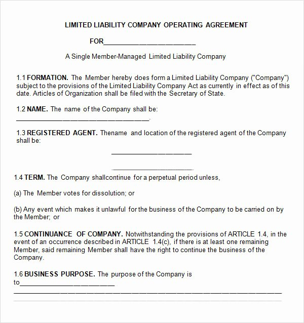 Free Operating Agreement Template Beautiful Free 11 Sample Operating Agreement Templates In Google