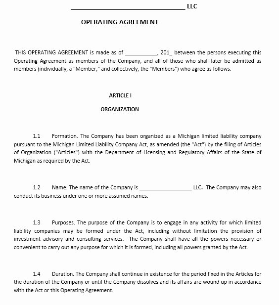 Free Operating Agreement Template Lovely 13 Free Sample Operating Agreement Templates Printable