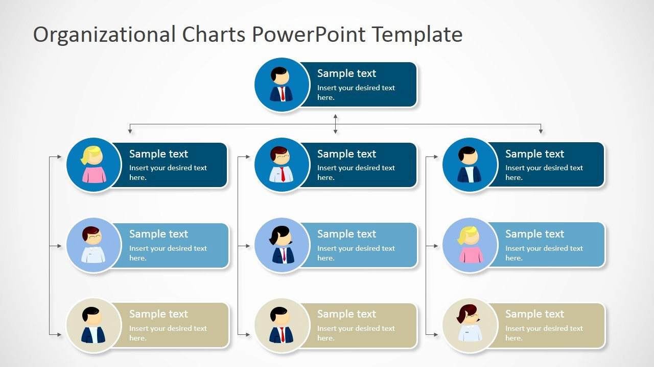 Free organizational Chart Template Awesome organizational Charts Powerpoint Template Slidemodel