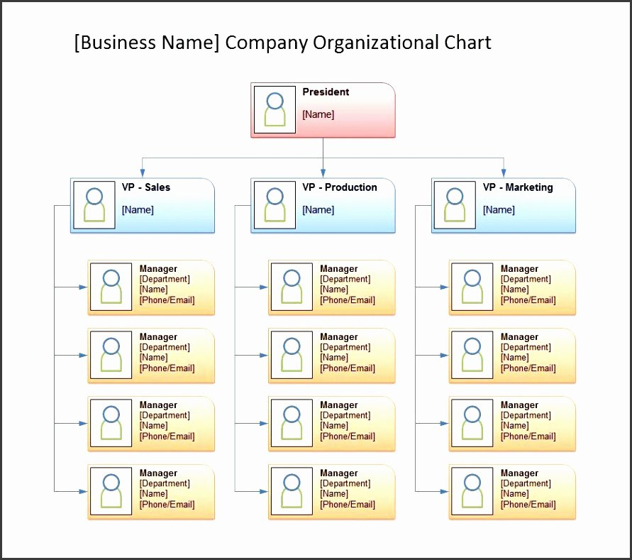 Free organizational Chart Template Word Unique 9 org Charts In Powerpoint Sampletemplatess