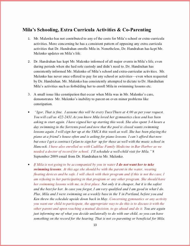 Free Parenting Plan Template Beautiful 50 50 Custody Agreement Template Detail Free Parenting