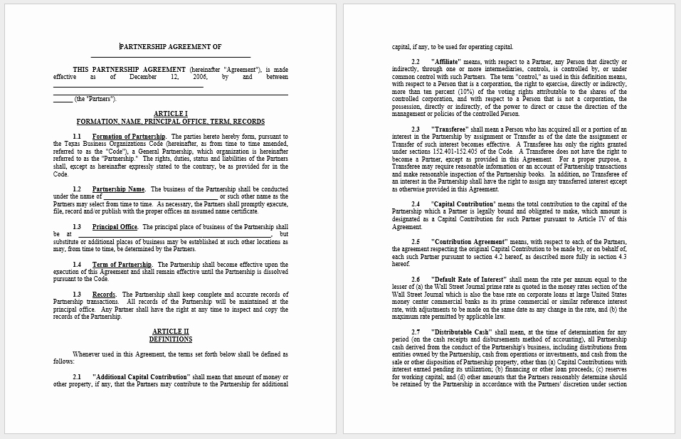 Free Partnership Agreement Template Word Best Of Partnership Agreement Templates 21 Free Samples or