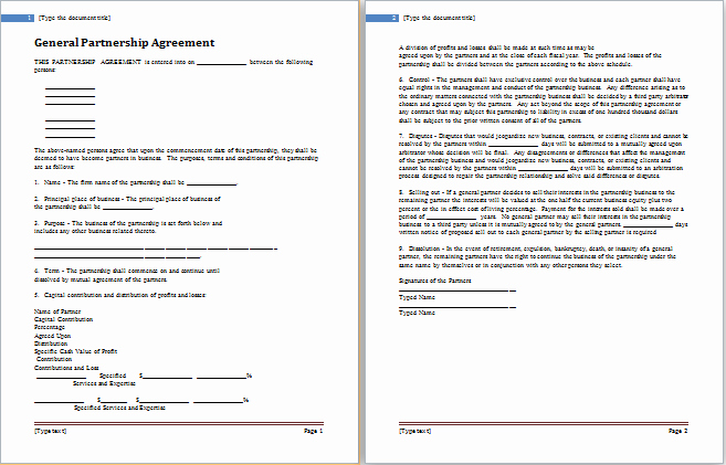 Free Partnership Agreement Template Word Best Of Partnership Agreement Templates