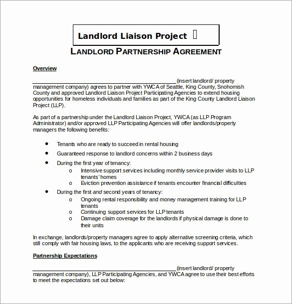 Free Partnership Agreement Template Word Elegant Partnership Agreement Template 21 Free Word Pdf