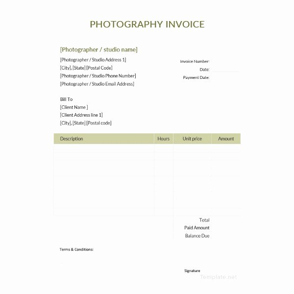 Free Photography Invoice Template Beautiful Invoice Template 43 Free Documents In Word Excel Pdf