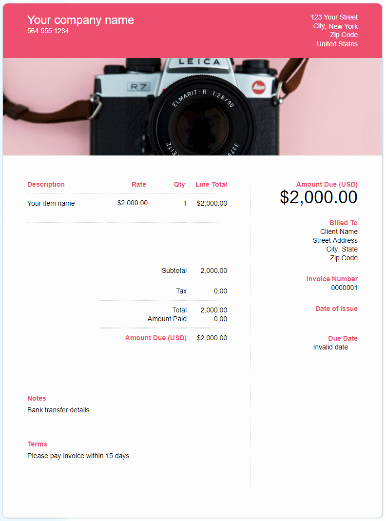 Free Photography Invoice Template Best Of Free Graphy Invoice Template Download now
