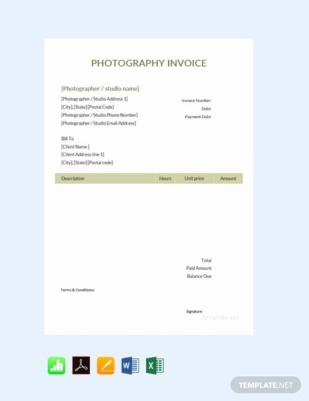 Free Photography Invoice Template Elegant 154 Free Invoice Templates In Adobe Pdf [download now In