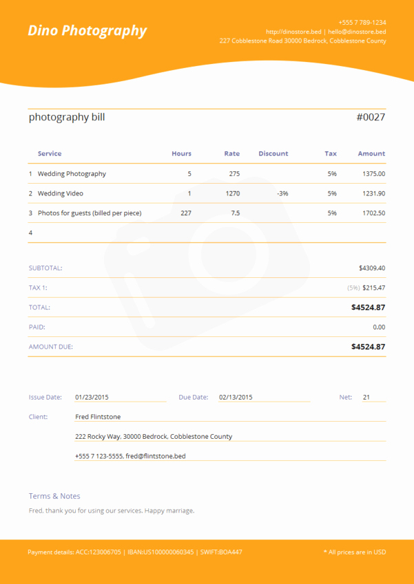 Free Photography Invoice Template Elegant Graphy Invoice Template Spreadsheet Templates for