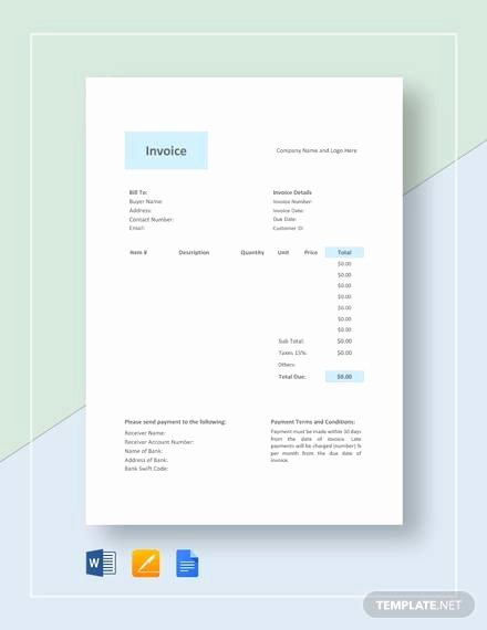Free Photography Invoice Template Fresh Free 10 Graphy Invoice Samples In Google Docs