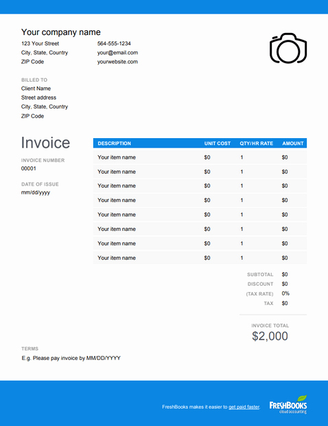 Free Photography Invoice Template Fresh Graphy Invoice Template Free Download