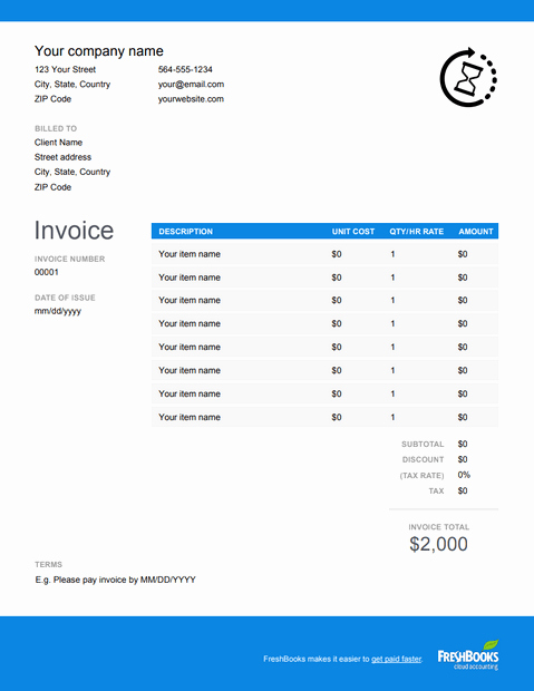 Free Photography Invoice Template New Hourly Invoice Template Free Download