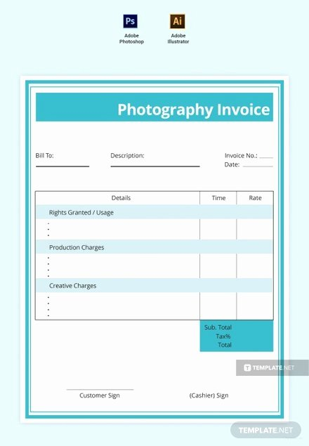 Free Photography Invoice Template Unique Free Mercial Graphy Invoice Template Download 78