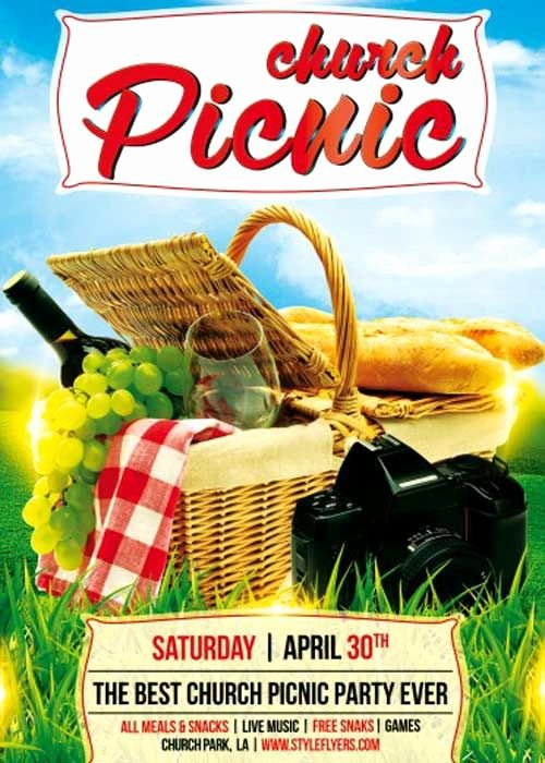 Free Picnic Flyer Template Awesome Church Picnic Psd Flyer Template Flyer Ideas