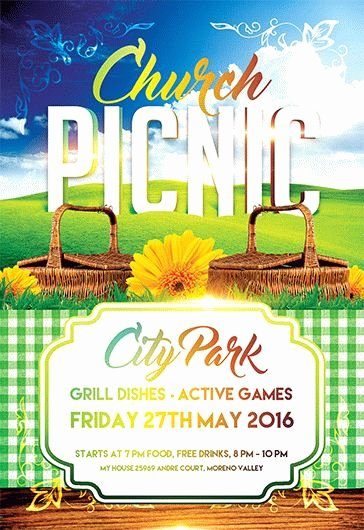 Free Picnic Flyer Template Best Of Church Picnic – Flyer Psd Template – by Elegantflyer