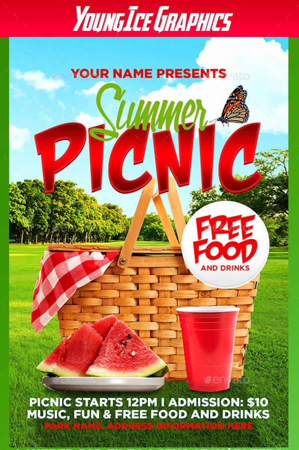 Free Picnic Flyer Template Inspirational 62 Summer Flyer Designs Psd Eps Word
