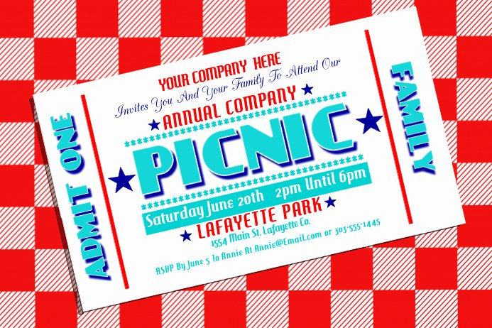 Free Picnic Flyer Template Inspirational Pany Picnic Template