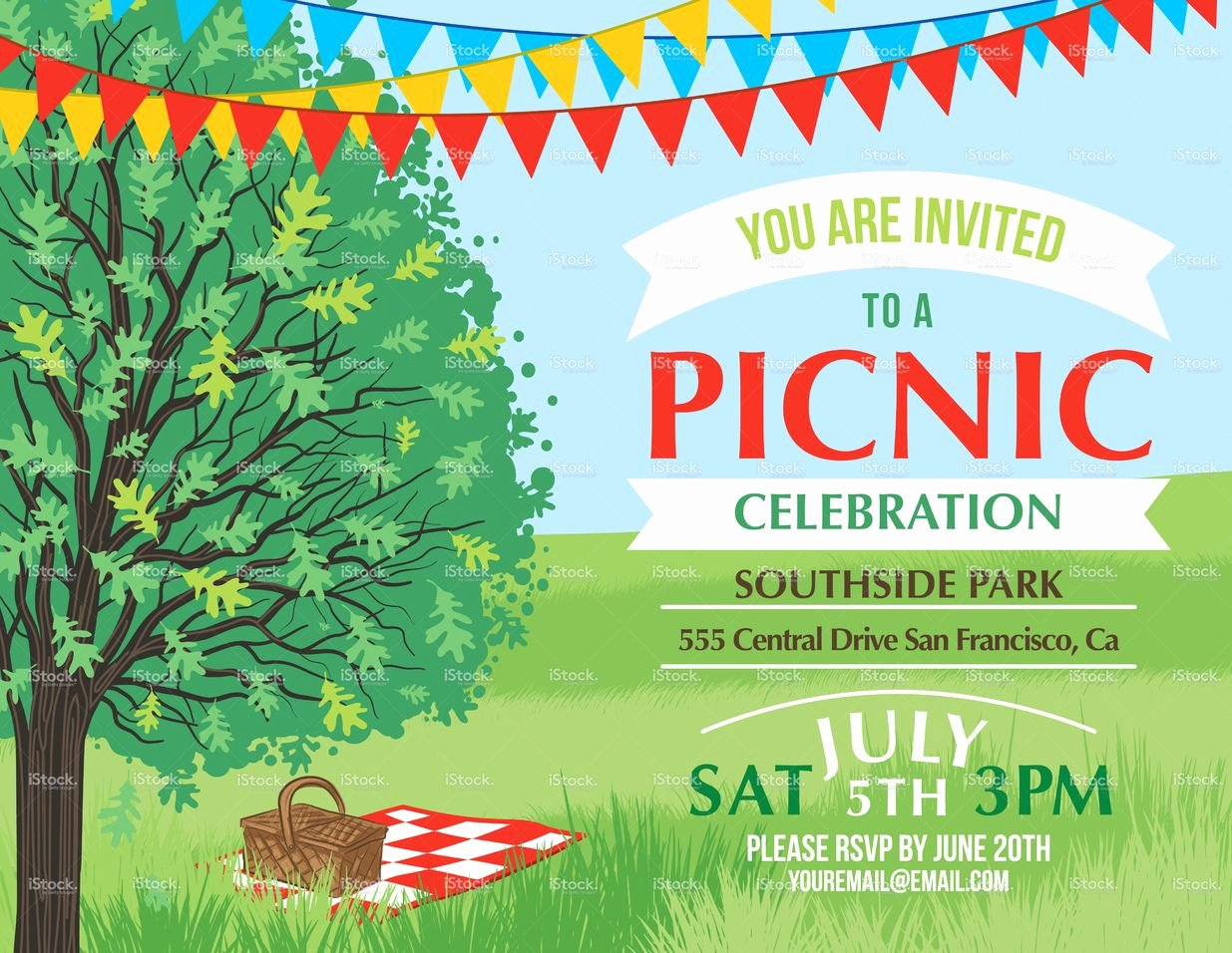 Free Picnic Flyer Template Inspirational Summer Picnic and Bbq Invitation Flyer or Template Text