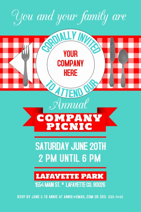Free Picnic Flyer Template New Copy Of Pany Picnic