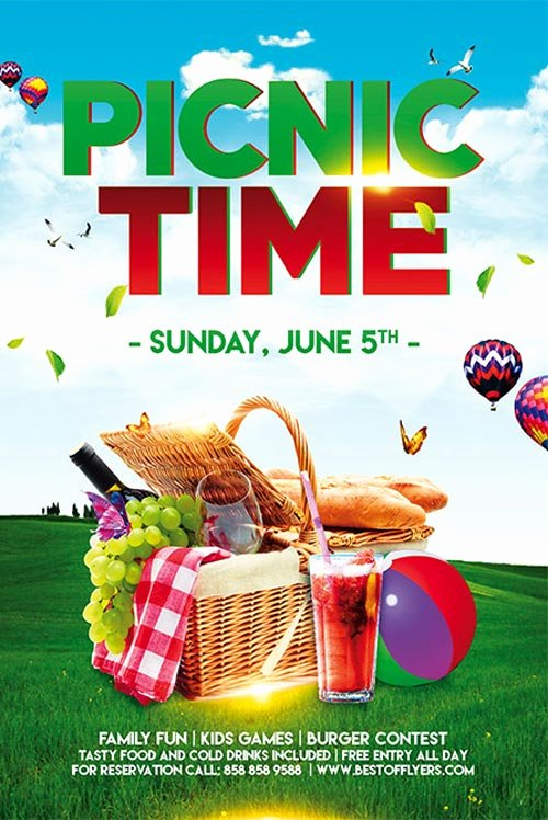 Free Picnic Flyer Template Unique Picnic Time Free Poster Template for Munity Picnic events