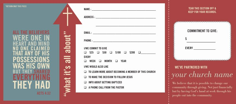 Free Pledge Card Template Best Of Pledge and Wel E Cards E Write Pany