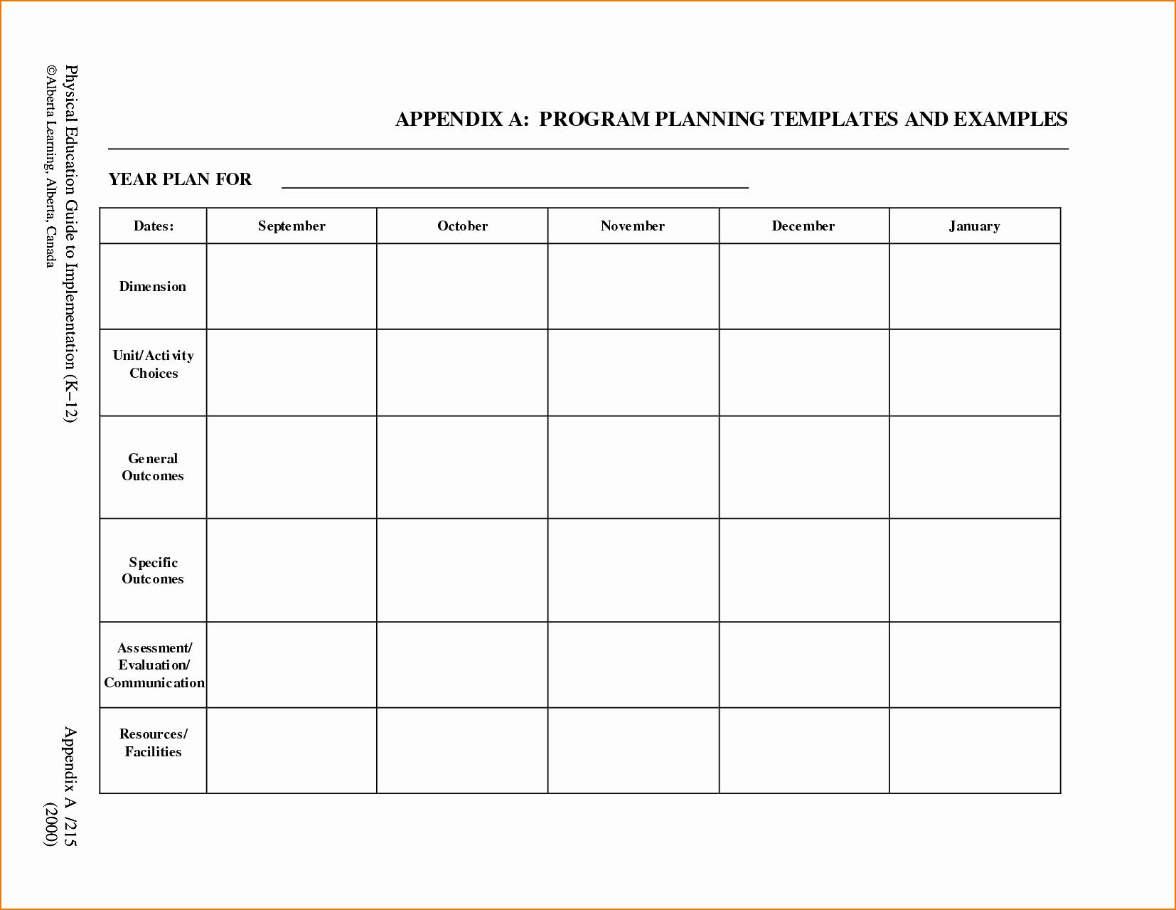 Free Preschool Lesson Plan Template Inspirational 5 Free Lesson Plan Template