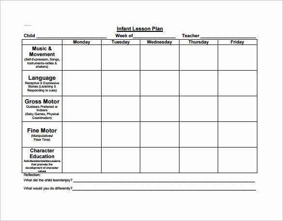 Free Preschool Lesson Plan Template Inspirational Preschool Lesson Plan Template 11 Free Pdf Word format