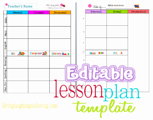 Free Preschool Lesson Plan Template Lovely Cute Lesson Plan Template… Free Editable Download