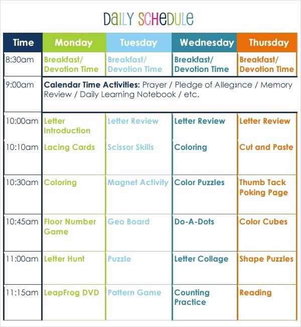 Free Preschool Lesson Plan Template Luxury Free 10 Sample Preschool Lesson Plan Templates In Google