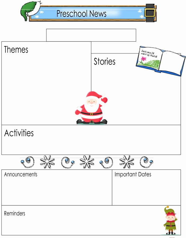 preschool newsletter templates