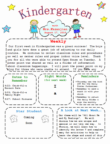 Free Preschool Newsletter Templates Beautiful Our Free Kindergarten Newsletter Template is Easy to Edit