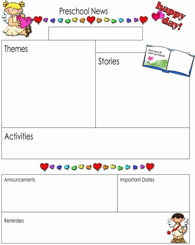 Free Preschool Newsletter Templates Fresh 16 Preschool Newsletter Templates Easily Editable and