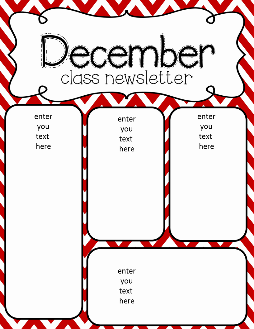 Free Preschool Newsletter Templates Fresh Simply Delightful In 2nd Grade December Newsletter Freebie