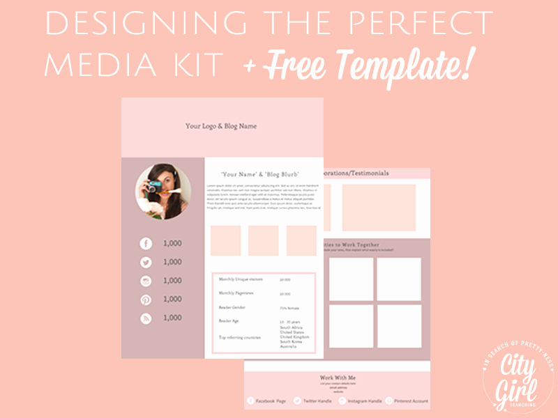 Free Press Kit Template Beautiful Creating A Media Kit for Your Blog Designing the Perfect