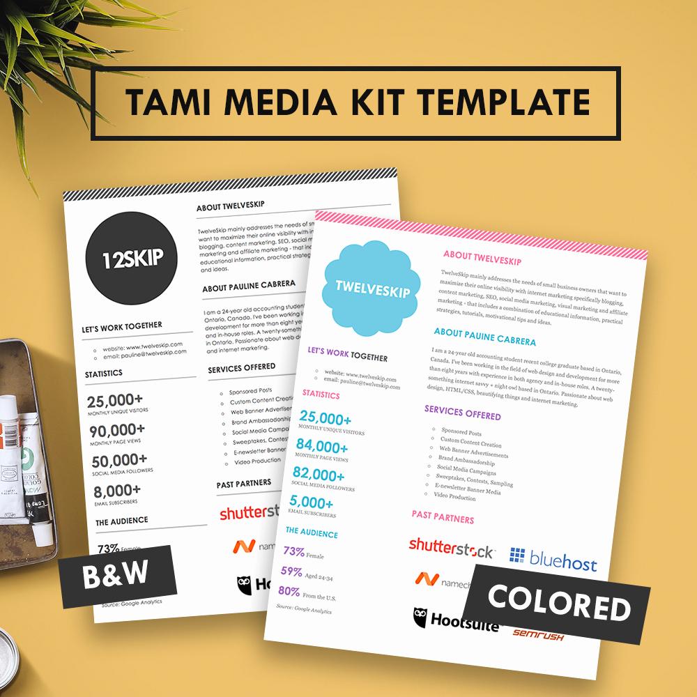 Free Press Kit Template Beautiful Tami Media Kit