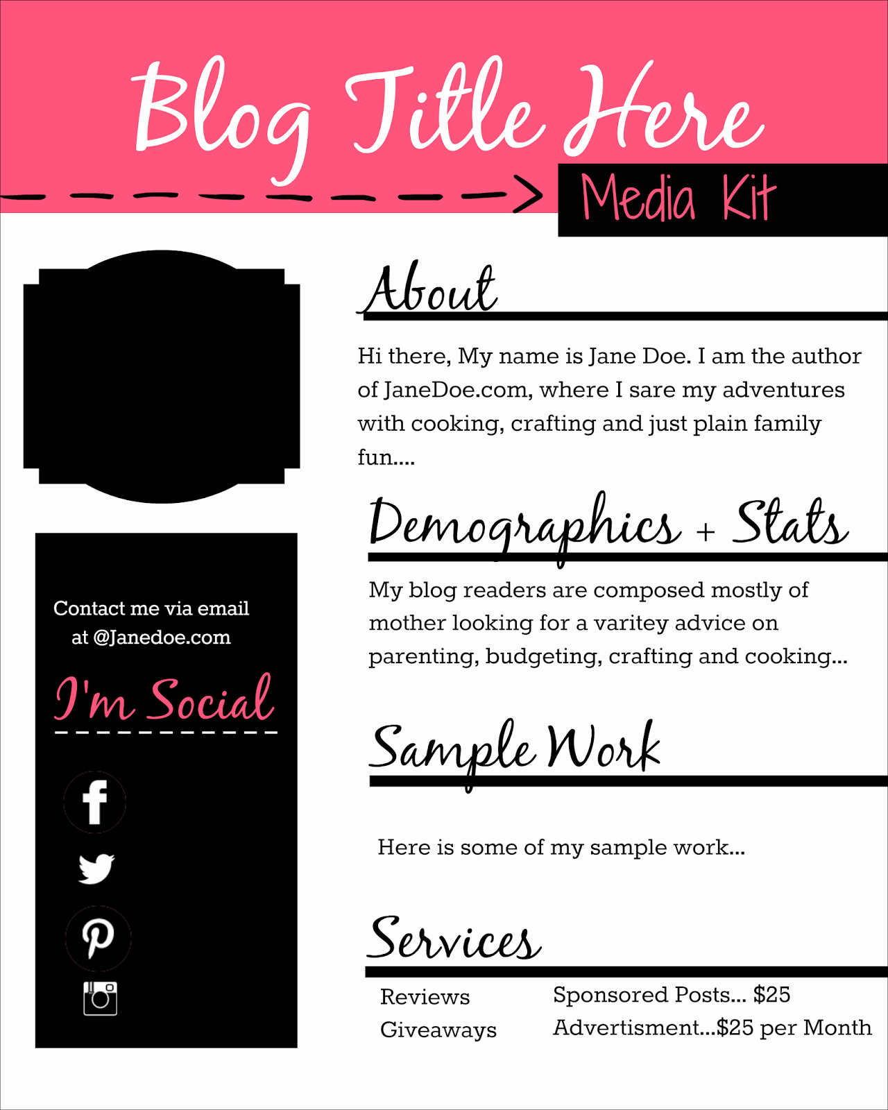 Free Press Kit Template Best Of How to Design A Free Media Kit for Your Blog Premade