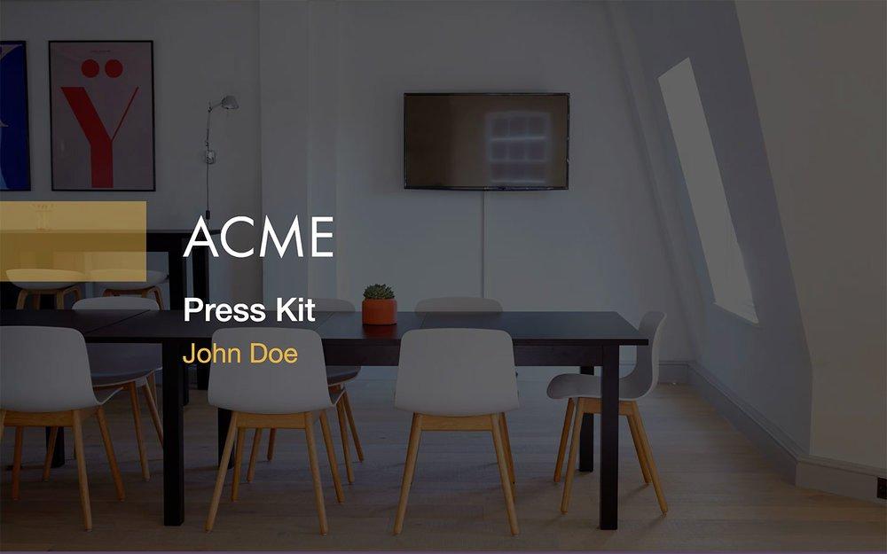 Free Press Kit Template Best Of Press Kit Template Free Pdf & Ppt Download — Slidebean