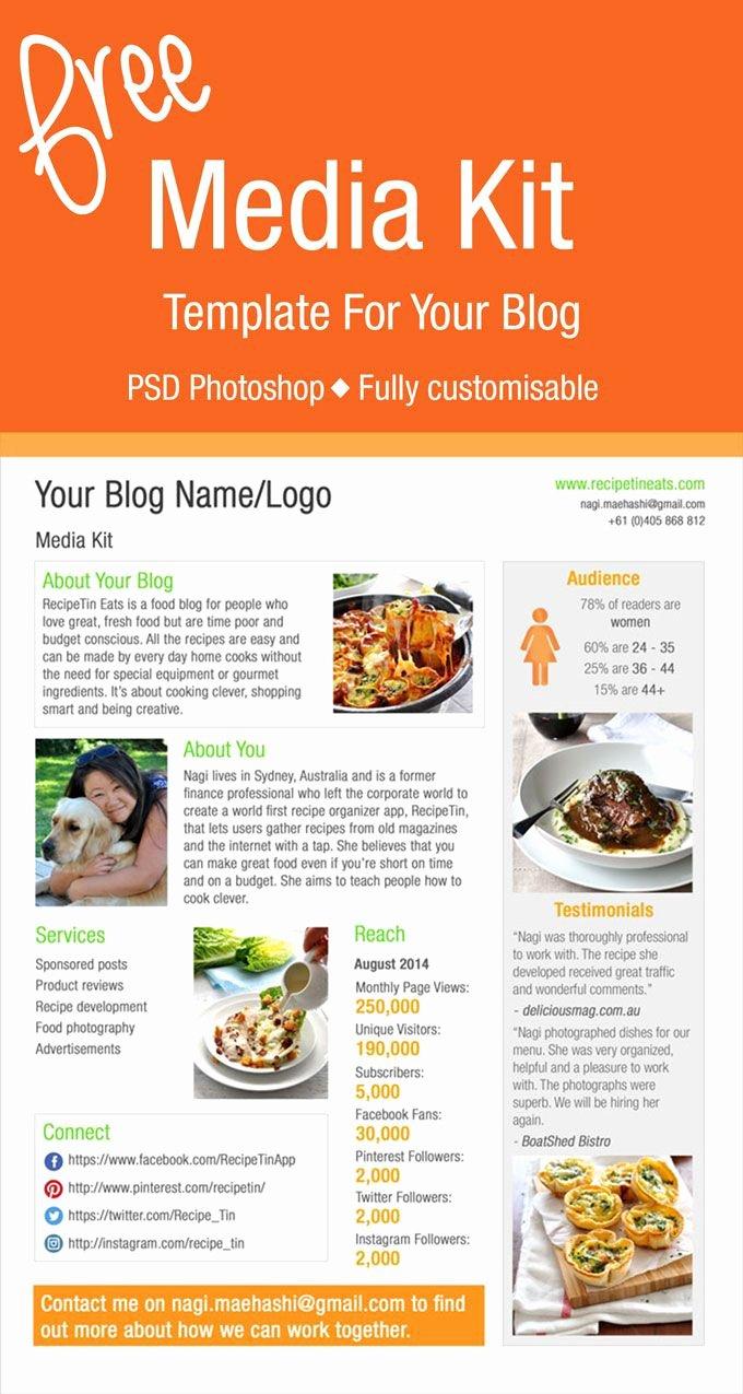 Free Press Kit Template Elegant Free Media Kit Template
