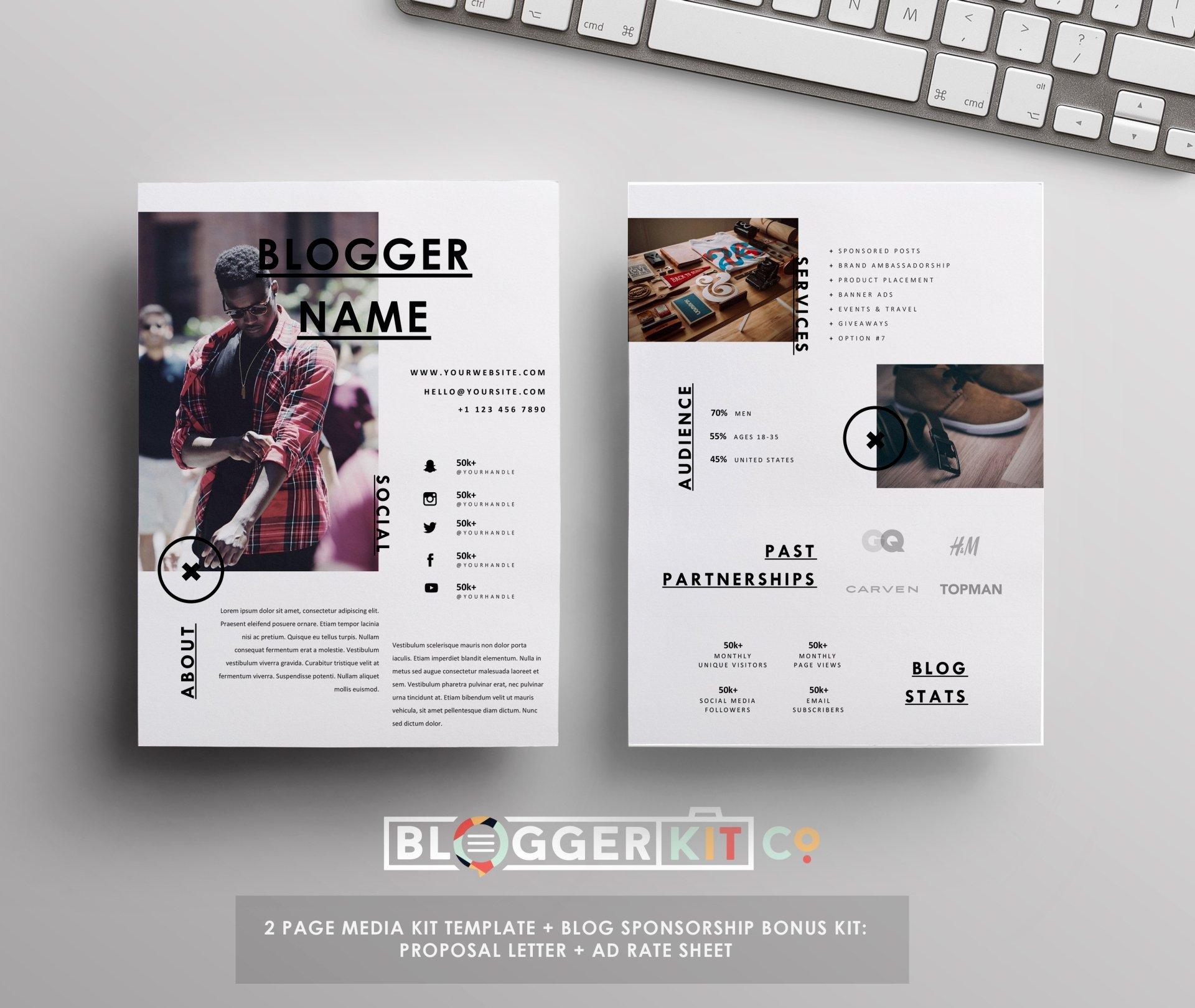 Free Press Kit Template Lovely Influencer Media Kit Template Ad Rate Sheet Blog
