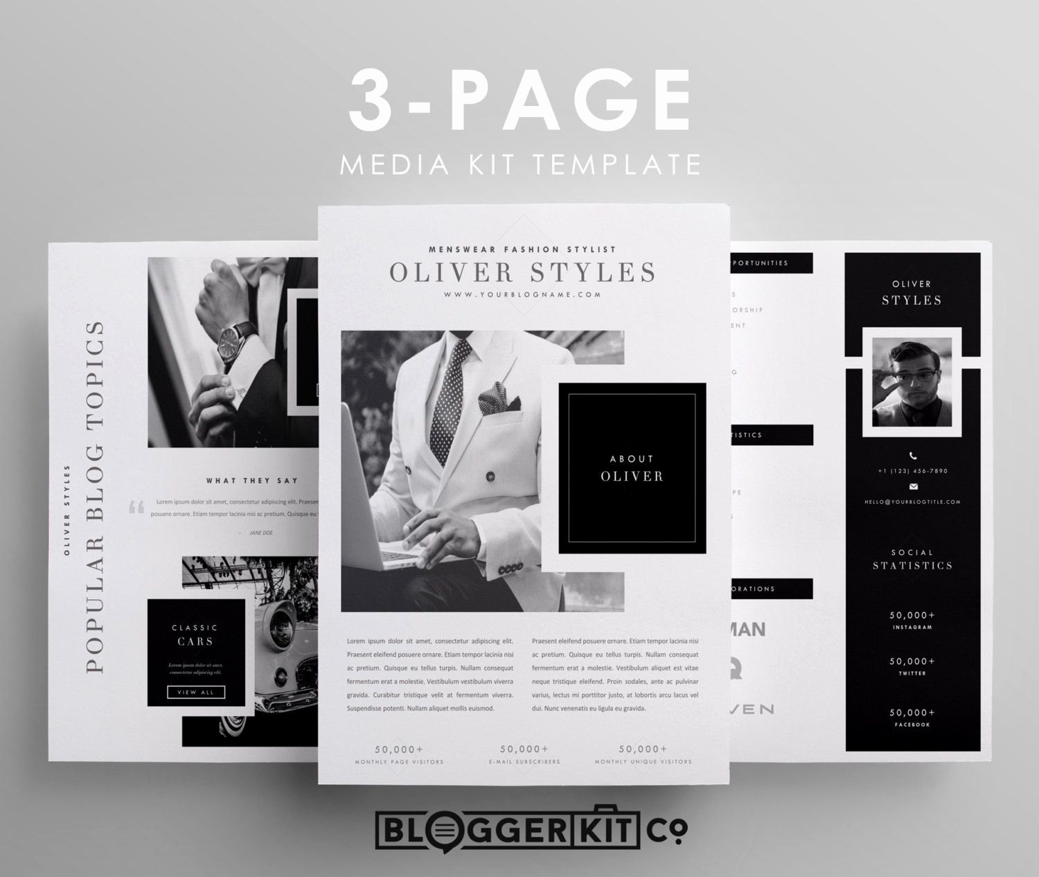 Free Press Kit Template Lovely Three Page Media Kit Template