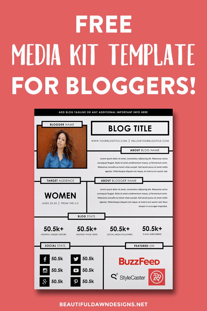 Free Press Kit Template New Free Blogging Resources Beautiful Dawn Designs