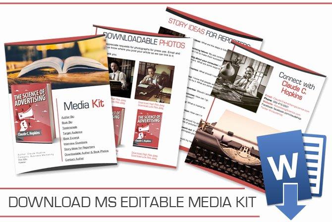 Free Press Kit Template Unique Author Media Kit Customizable Template