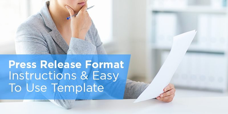 Free Press Releases Templates Beautiful Press Release format Instructions & Easy to Use Template