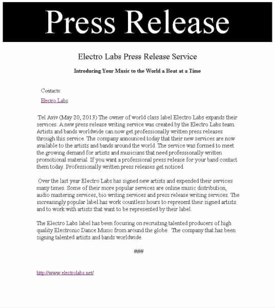 Free Press Releases Templates Elegant 21 Free Press Release Template Word Excel formats