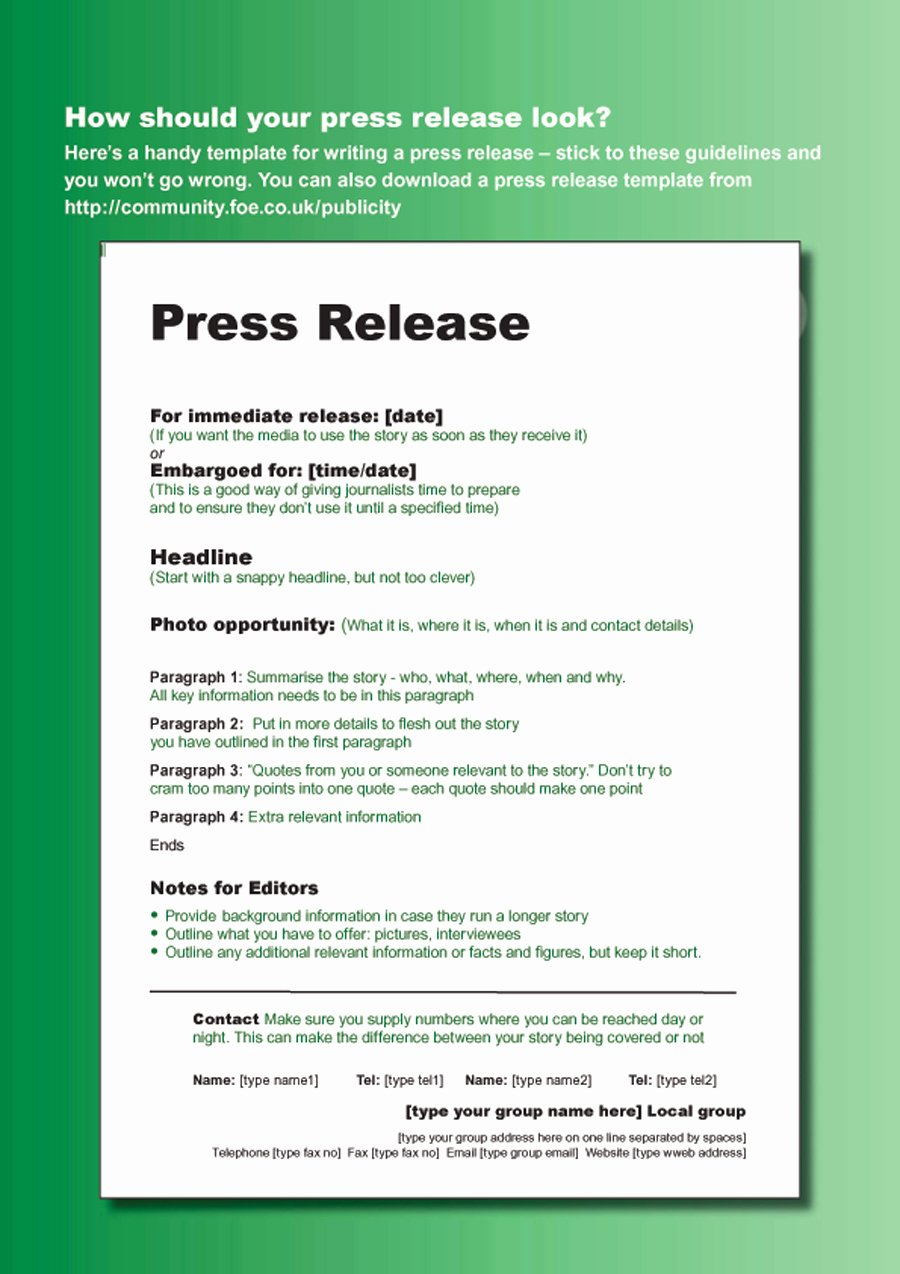 Free Press Releases Templates New 47 Free Press Release format Templates Examples & Samples