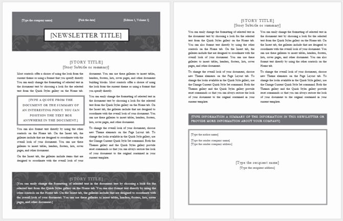 Free Print Newsletter Templates Awesome 13 Free Newsletter Templates You Can Print or Email as Pdf
