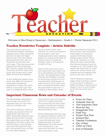 Free Print Newsletter Templates Awesome Newsletter Templates Free Printable