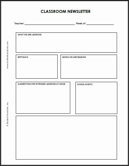 Free Print Newsletter Templates Beautiful Printable Newsletter Templates