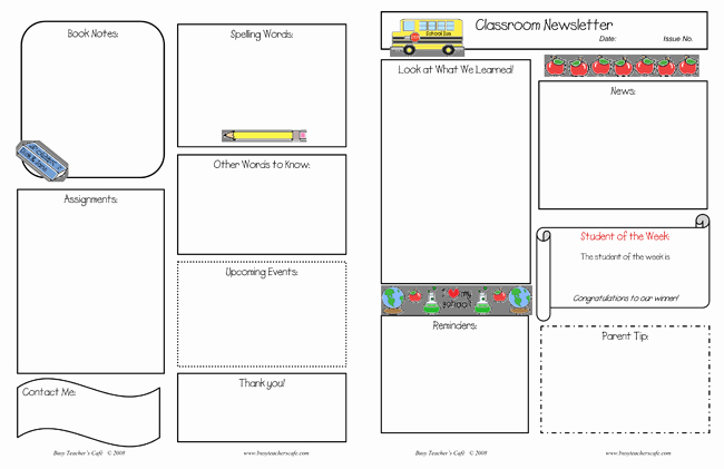 Free Print Newsletter Templates Best Of 10 Classroom Newsletter Templates Free and Printable