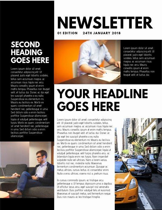 Free Print Newsletter Templates Fresh Design A Newsletter Free Templates